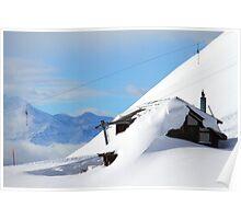 Bunker Down In Ski Town Poster
