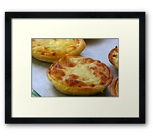 Cheese Pastry Framed Print