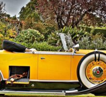 1930's Yellow Packard at Carrack Hill Sticker