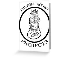Welcome to the Hilton Jacobs Projectz! Greeting Card