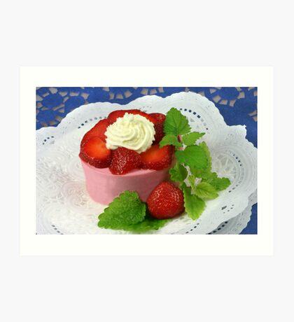 Yoghurt and Strawberries Art Print