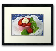 Yoghurt and Strawberries Framed Print