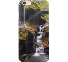 Rainbow falls cascade at Watkins Glenn state park iPhone Case/Skin
