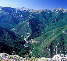 LIGURIA LANDSCAPES Pennavaire Valley mountains by Enrico Pelos