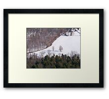 Winter in the Catskills Framed Print