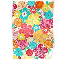 Big Summer Floral Poster