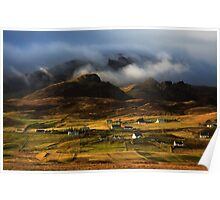 Staffin in Winter Light. Isle of Skye. Scotland. Poster
