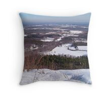 Winter in the Catskills Throw Pillow