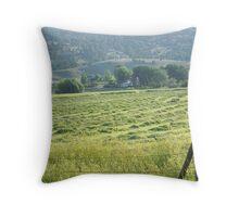 Fresh Mown Hay Throw Pillow