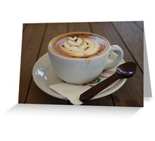 Americano Coffee with Tulip Design Greeting Card