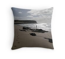 Silver Surf Throw Pillow