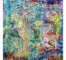 Fishscape - oil on canvas Photographic Print