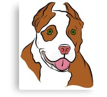 Red Nosed Pit Canvas Print