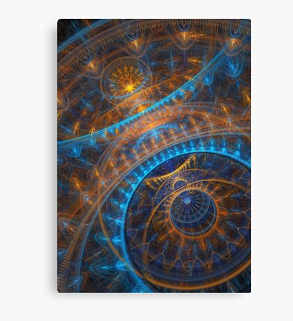 Steampunk Astronomical clock  Canvas Print