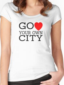 Go love (heart) your own city Women's Fitted Scoop T-Shirt