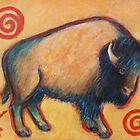 Primitive Yellow Buffalo by carolsuzanne