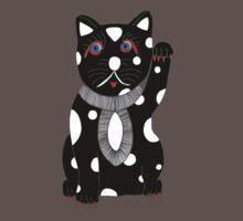 Black Maneki Neko (Lucky Cat) by Louise Norman