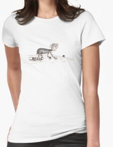 Rags follows mouse. Womens Fitted T-Shirt