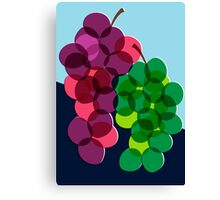 Retro Grapes Canvas Print