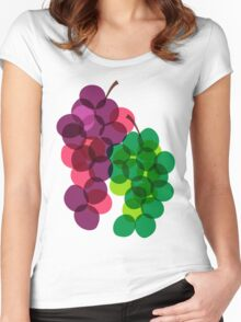 Retro Grapes Women's Fitted Scoop T-Shirt