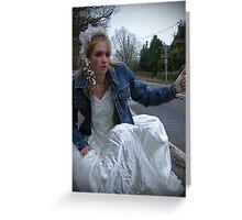 runaway bride 05 Greeting Card