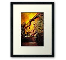 Cottage on the Bend Framed Print