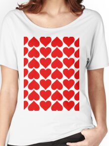 Seamless Hearts Tiles Pattern Women's Relaxed Fit T-Shirt