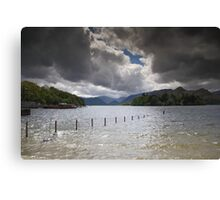 Dark Clouds Over Derwent Water Canvas Print