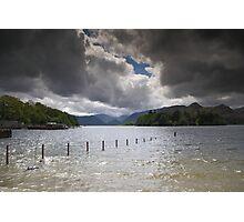 Dark Clouds Over Derwent Water Photographic Print