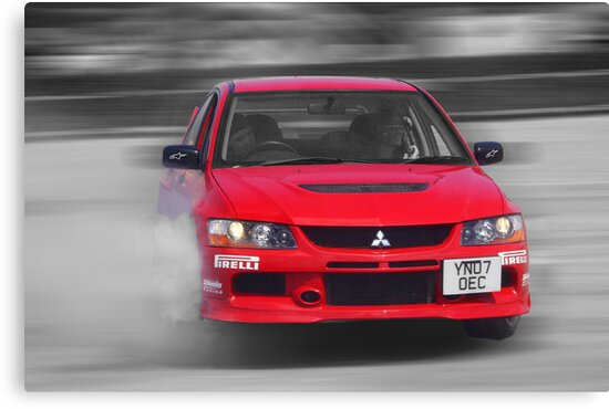 Mitsubishi EVO Burnout by Nick Barker