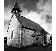 St. Leonard's Church - Hartham, Hertfordshire (Black and White Version) by MoGeoPhoto