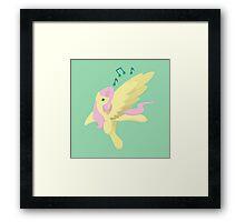 Sing Along Fluttershy Framed Print