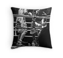 Blue Horizon Boxers 1 Throw Pillow