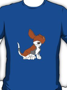 Cartoon Basset Hound Can't See  T-Shirt