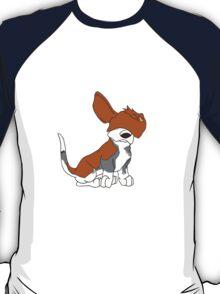 Cartoon Basset Hound Can't See  T-Shirt