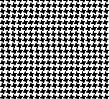 BLACK HOUNDSTOOTH by Annie Neusteter