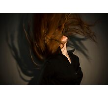 flying red hair Photographic Print