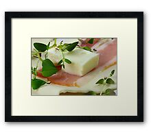 Delicious Combination for Partysnack Framed Print