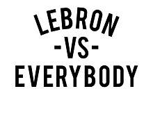 LeBron VS Everybody | Black Photographic Print