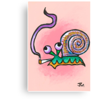 Snail Daze Canvas Print