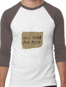 Will Code For Food Men's Baseball ¾ T-Shirt