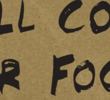 Will Code For Food Sticker