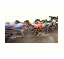 Past in a blur of colour Art Print