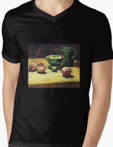 The Green Collander, oil painting on board. Mens V-Neck T-Shirt