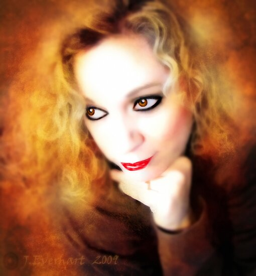 Just Thinking ( self portrait ) by Julie Everhart
