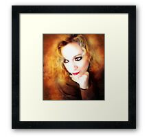 Just Thinking ( self portrait ) Framed Print