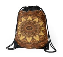 Kaleidoscope in Earth Tones Drawstring Bag