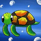 """Baby Turtle"" Part of my kids art series by Taniakay"