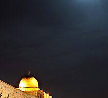 Moon rises, Al-Aqsa Mosque, Israeli-occupied East Jerusalem by Michael Marten