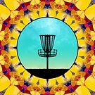 Disc Golf Abstract Basket 4 by Phil Perkins